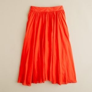 J.Crew Petite Jardin Skirt. Bright Poppy. P4